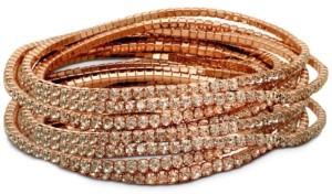 GUESS 10-Pc. Set Crystal Stretch Bracelets