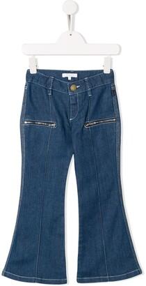 Chloé Kids Flared Jeans