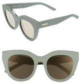 Le Specs Women's Air Heart 51Mm Sunglasses - Matte Olive/ Gold