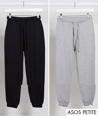 ASOS DESIGN Petite basic jogger with tie 2 pack SAVE