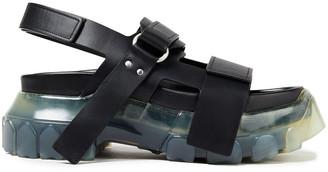 Rick Owens Tractor Leather Platform Sandals