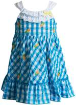 Youngland Baby Girl Pineapple Plaid Seersucker Dress