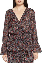 BCBGeneration Floral Ruffled Crossover Top