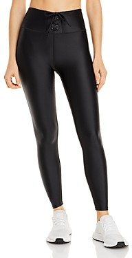 Aqua Athletic Lace Up Pull On Leggings