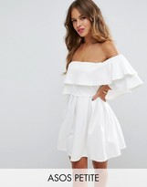 Asos Ruffle Off Shoulder Mini Dress