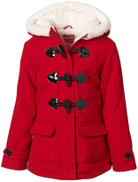Pink Platinum Red Hooded Toggle Jacket - Infant, Toddler & Girls