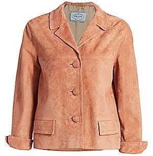 Prada Women's Suede Button Jacket