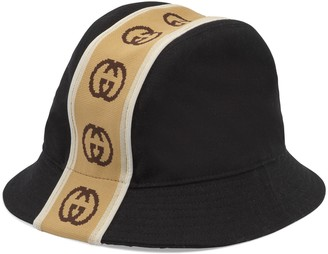 Gucci Wool hat with Interlocking G stripe
