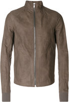 Rick Owens funnel neck biker jacket