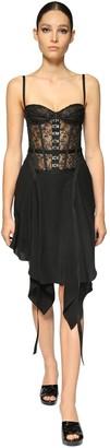 Olivier Theyskens Lace Corset Dress W/ Hook & Eye Details