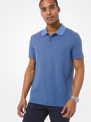 Michael Kors Striped Jacquard Polo Shirt