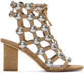 Alexander Wang Brown Suede Rainey Cage Heels
