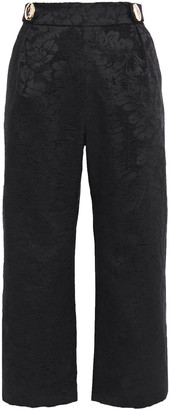 Mother of Pearl Flynn Cropped Chenille-jacquard Wide-leg Pants