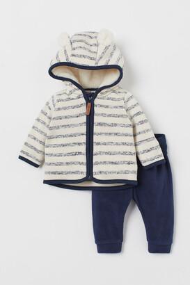 H&M 2-piece Fleece Set - Blue