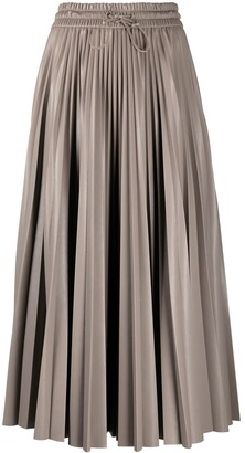 MSGM Pleated High-Waisted Skirt
