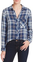 Bella Dahl Multi-Stitch Button-Down Plaid Shirt