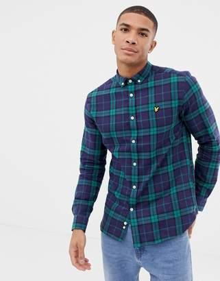 Lyle & Scott regular fit long sleeve check shirt in green
