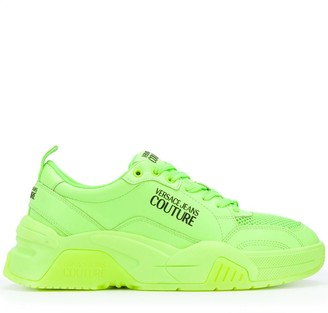 Versace Logo Lace-Up Trainers