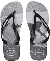 Havaianas Top Photoprint Sandal (Black/Black/Blue) Men's Sandals
