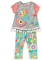 Rare Editions Baby Girls 12-24 Months Bicycle-Appliqued Top & Printed Leggings Set