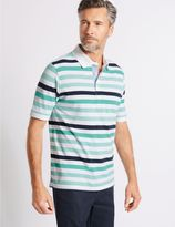 Marks and Spencer Big & Tall Pure Cotton Striped Polo Shirt