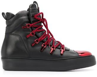 Cesare Paciotti Metallic Toe Cap Sneakers