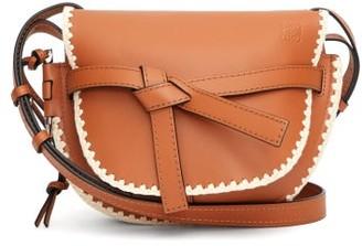 Loewe Gate Small Crochet-trim Leather Cross-body Bag - Tan Multi