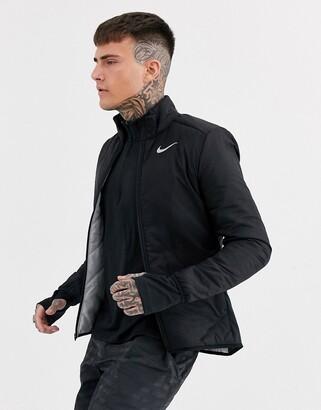 Nike Running Aerolayer jacket in black