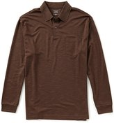 Roundtree & Yorke Travel Smart Long-Sleeve Solid Pocket Polo