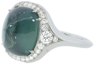 Bayco Sugarloaf Green Saphire and Diamond Ring
