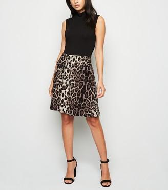 New Look Mela Leopard Print Sleeveless Dress