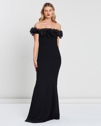 Montique Mischa Organza Rose Gown