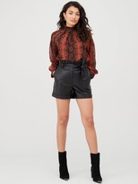 Very Faux Leather Shorts - Black