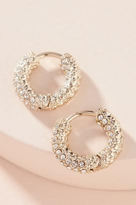 Anthropologie Alanna Huggie Hoop Earrings By in Gold