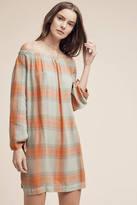 Cloth & Stone Off-The-Shoulder Plaid Tunic