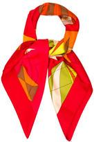 Hermes Les Folies du Ciel II Silk Scarf