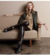 MICHAEL Michael Kors Faux Leather Trim Knit Pants