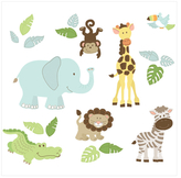 Safari Buddies Wall Art Kit