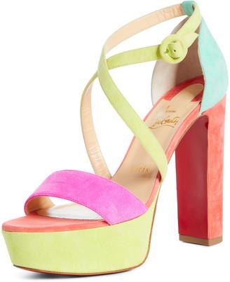 Christian Louboutin Loubie Bee Alta Strappy Platform Sandal
