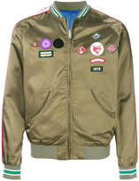 Diesel patch detail bomber jacket