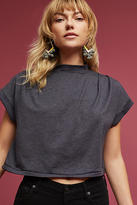 Anthropologie Mock Neck Cropped Tee