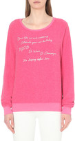 Wildfox Couture Just Because embroidered sweatshirt