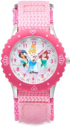 Disney Princess Kids' Cinderella, Jasmine & Ariel Time Teacher Watch