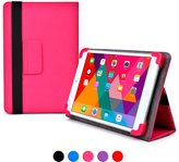 Cooper Cases case, COOPER INFINITE ELITE Protective Rugged Shockproof Carrying Universal Portfolio Case Cover Folio Holder with Built-in Stand (Pink)