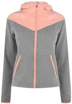 Training Zone Contrast Zip Hoodie Ladies