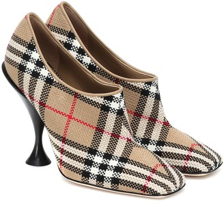 Burberry Tripton checked canvas pumps