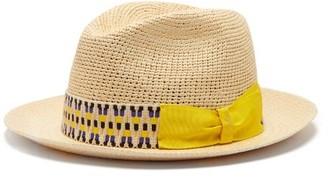 Borsalino Woven-straw Panama Hat - Mens - Beige