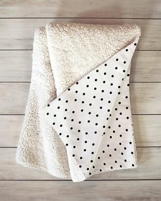 Express Deny Designs Tiny Polka Dots Sherpa Throw Blanket