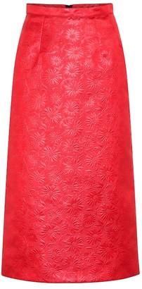 Marni Duchesse jacquard pencil skirt
