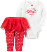 Carter's 2-Piece Bodysuit & Tutu Pant Valentine's Day Set